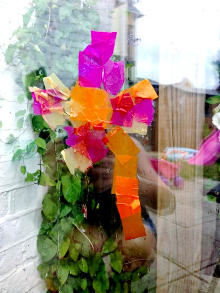Tissue paper windows