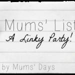 Mums list #4