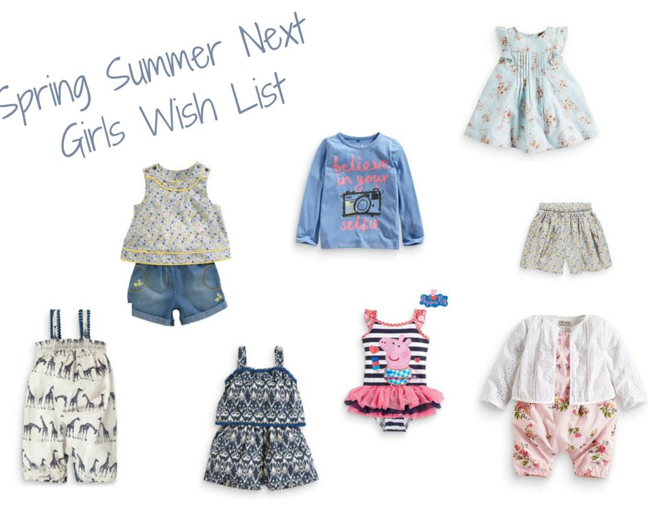 Spring Summer Girls Wish List