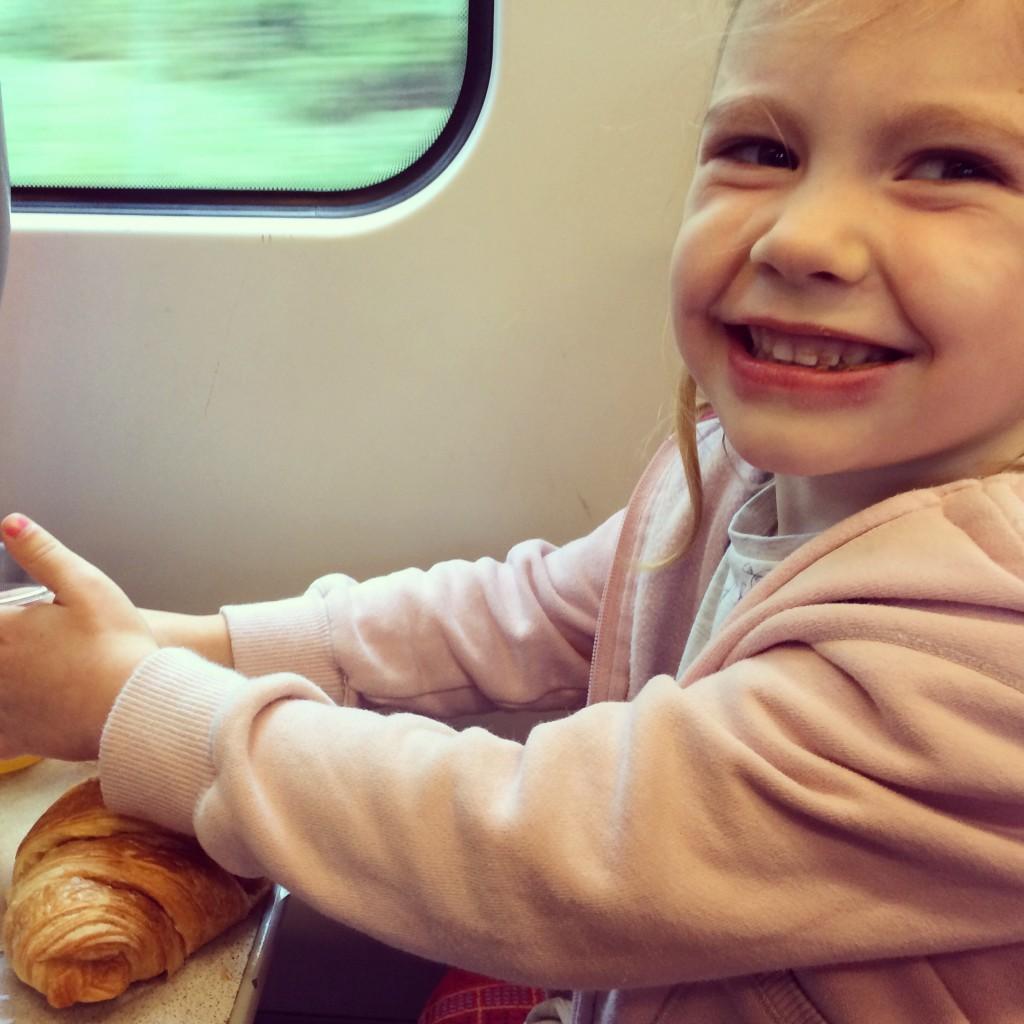 Breakfast on the train!