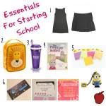 Starting school essentials