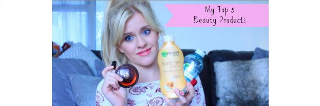 My top 5 beauty products – vlog club