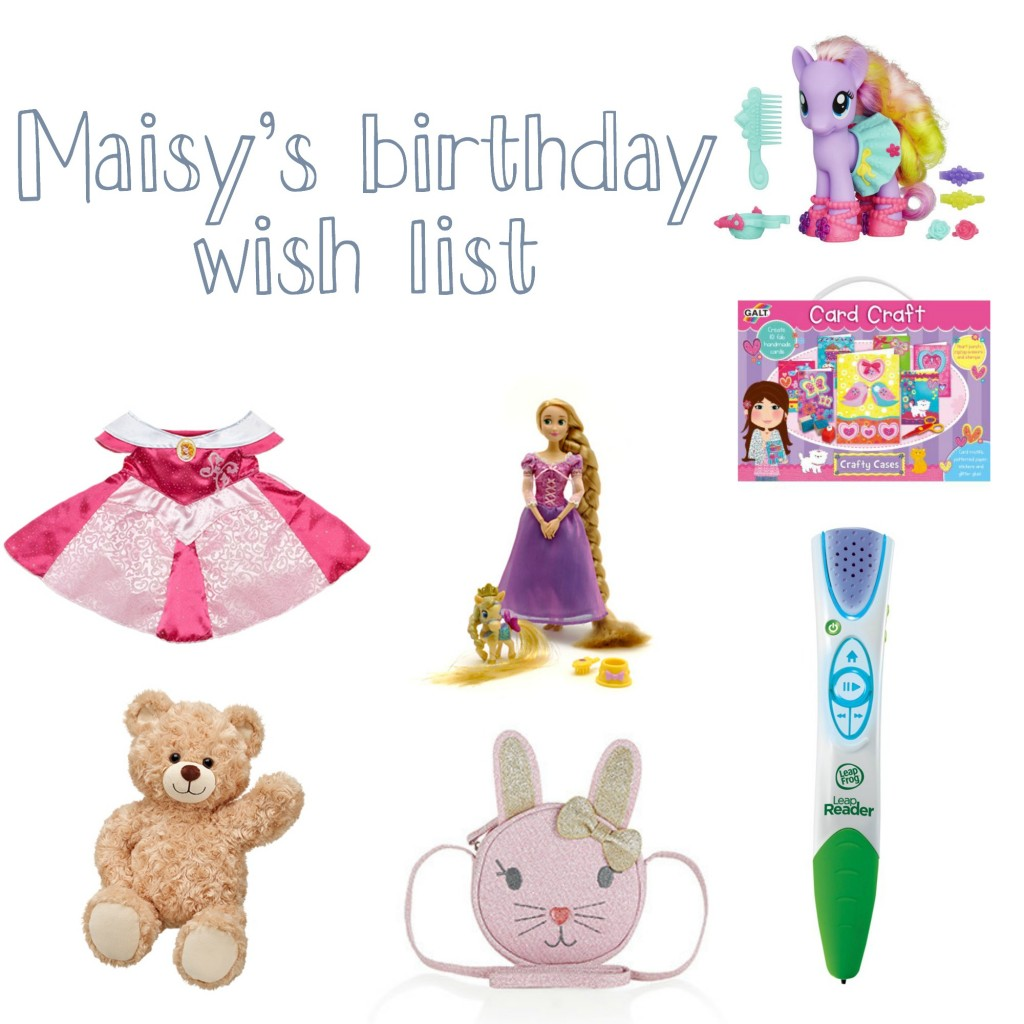 Daisy birthday wishlist