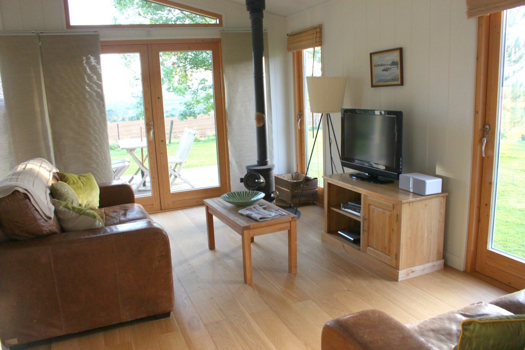 Furrow fields lodge living area