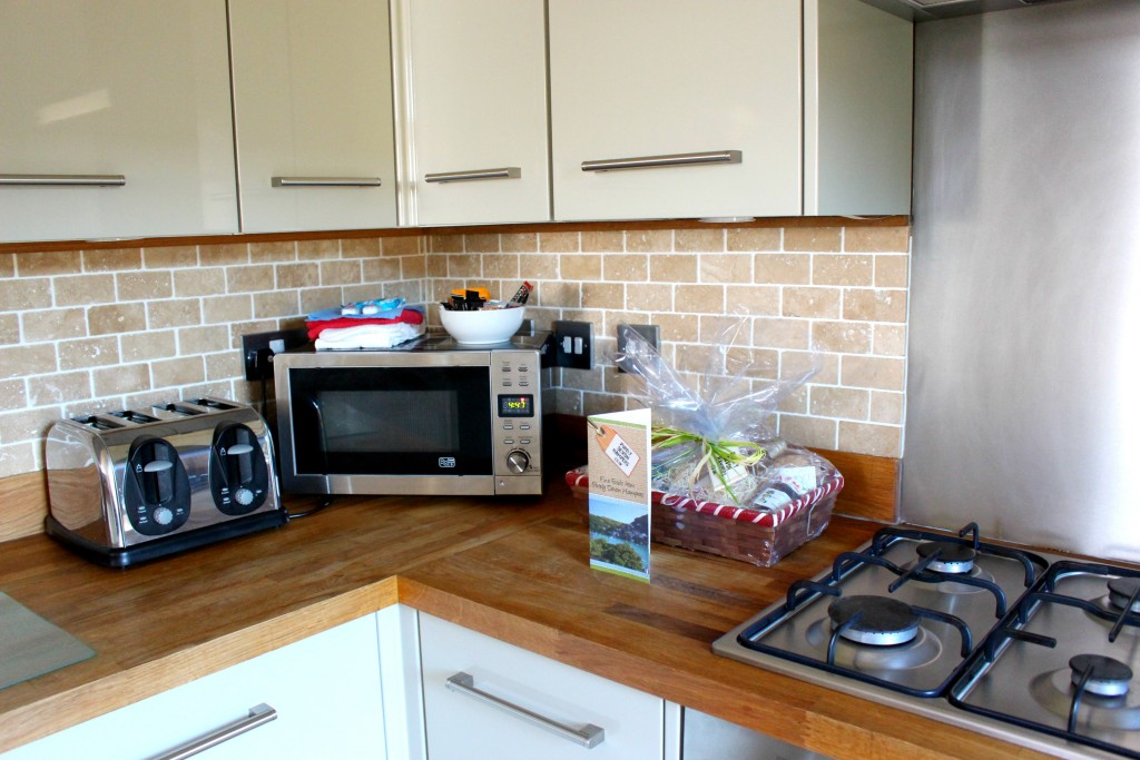well equipped kitchen at furrow fields lodge, blue chip holidays