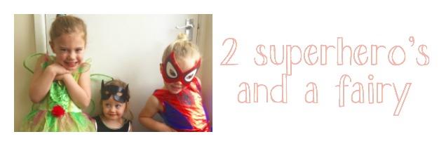 2 superheros and a fairy