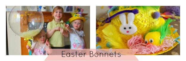 Making easter bonnets
