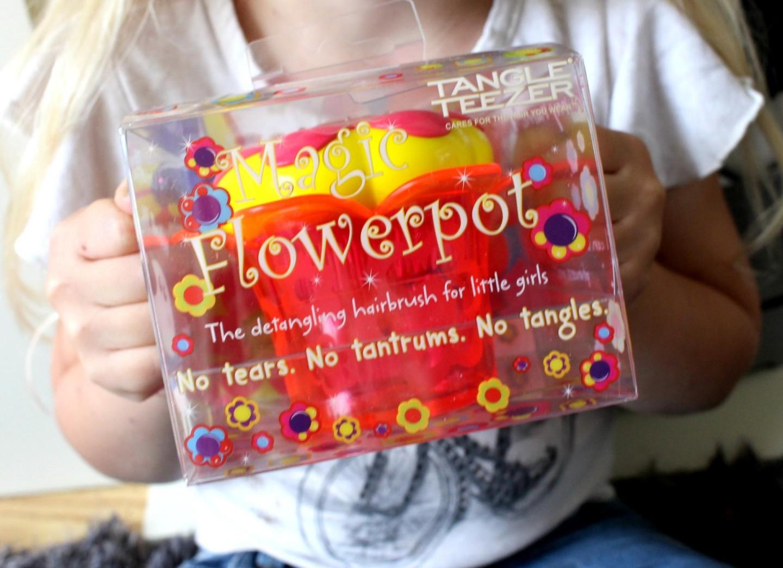 tangle teezer Magic Flower pot kids hair brush