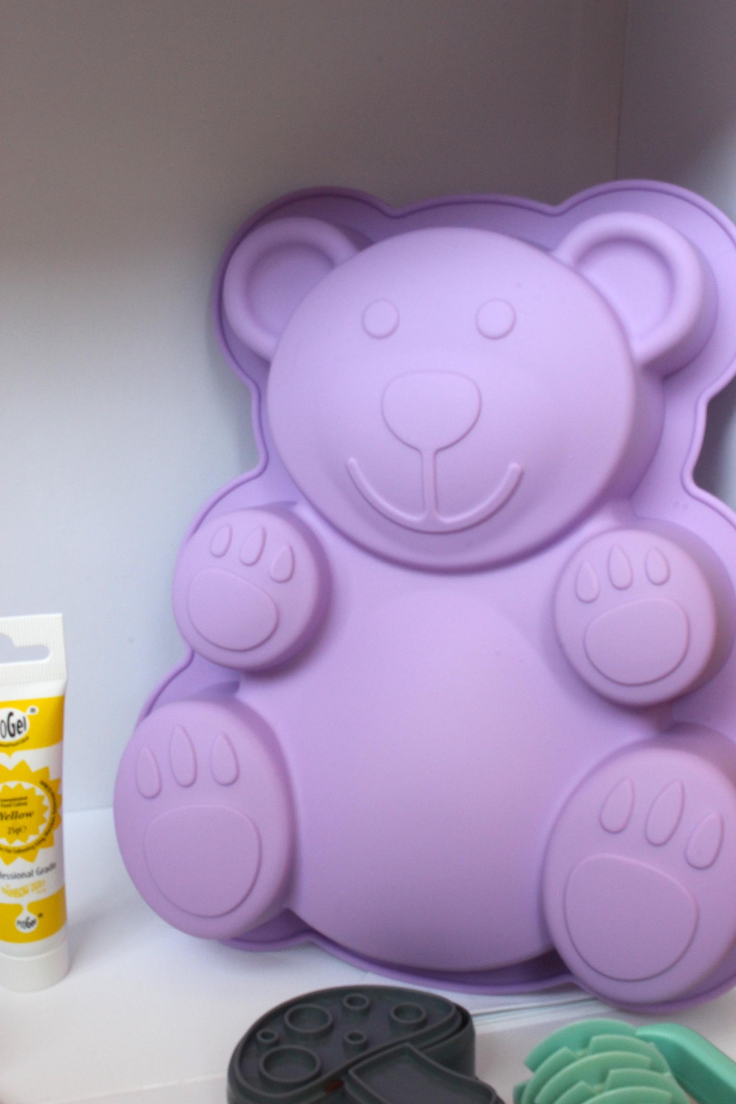 Bake box teddy silicon cake mould