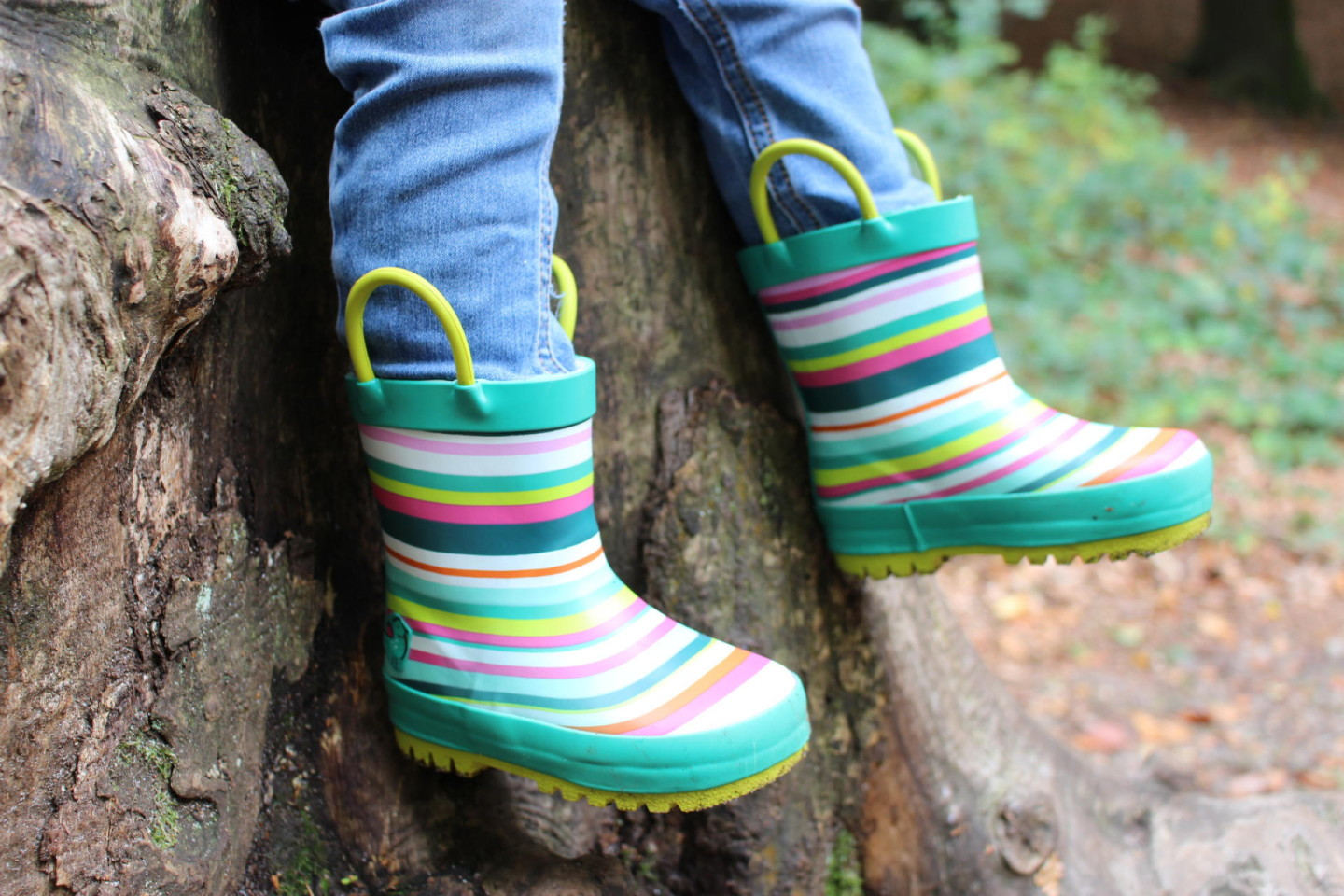 Stomping through the woods in new wellies