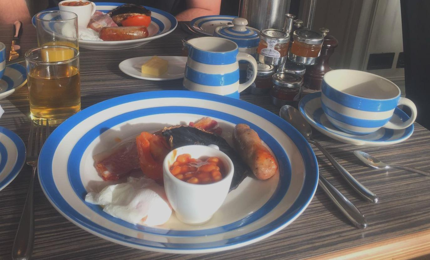 Breakfast at the Christchurch Harbour Hotel