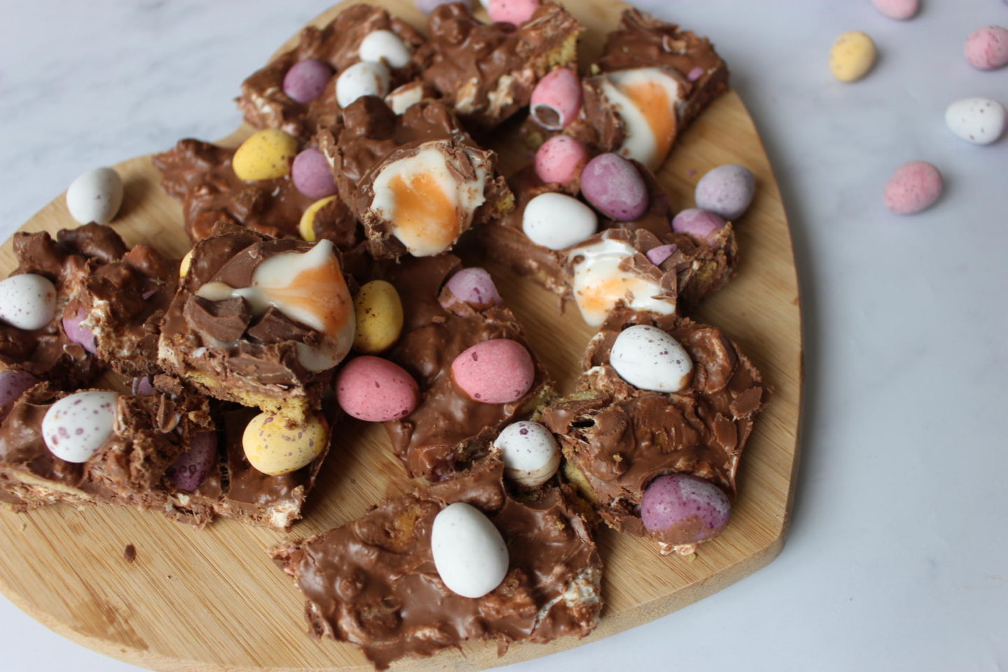 No Bake Easter Rocky Road