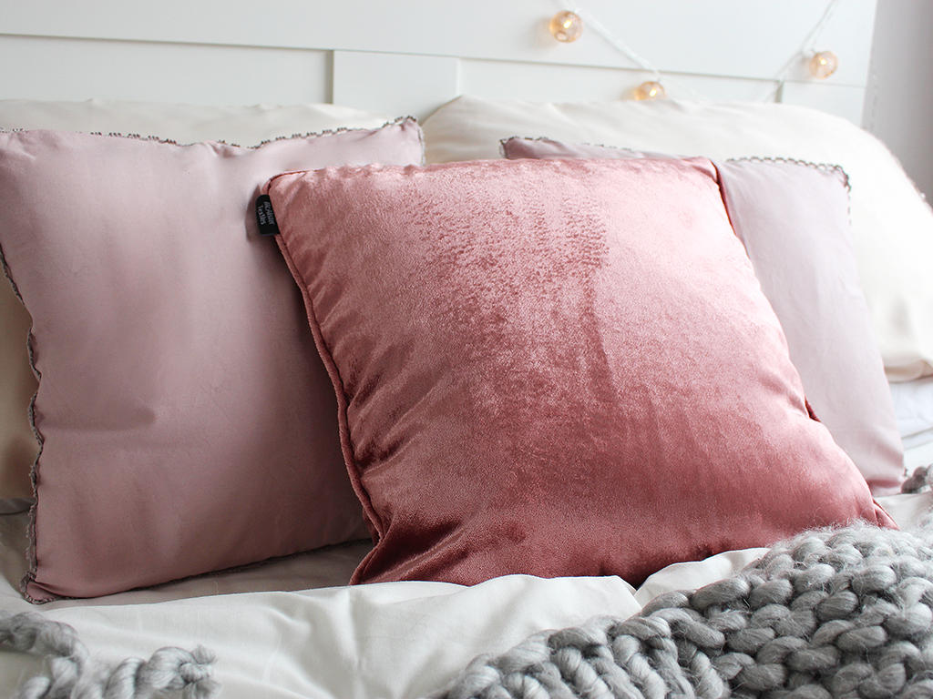 Blush pink and grey interiors
