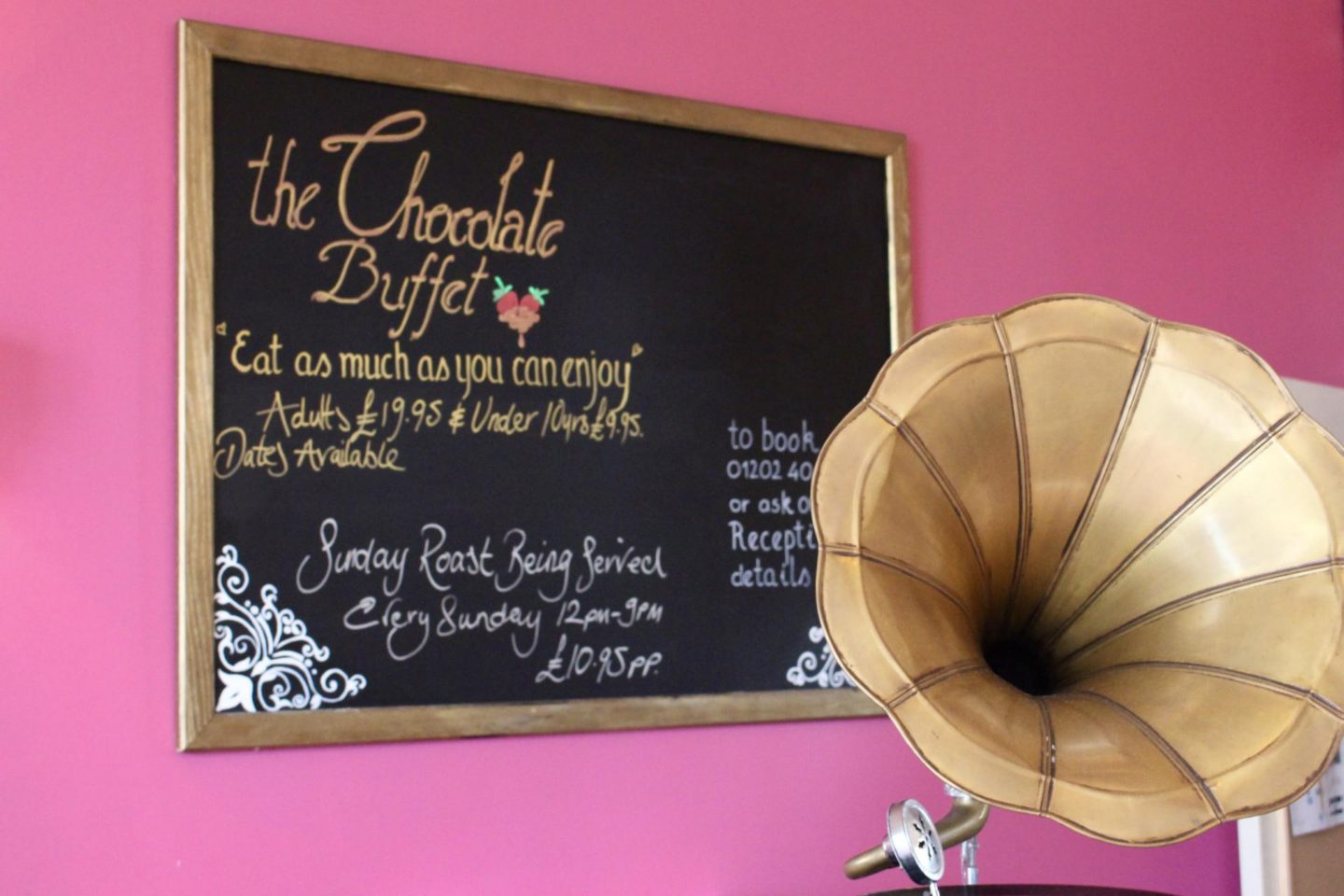 A chocolate buffet at cottonwood boutique hotel