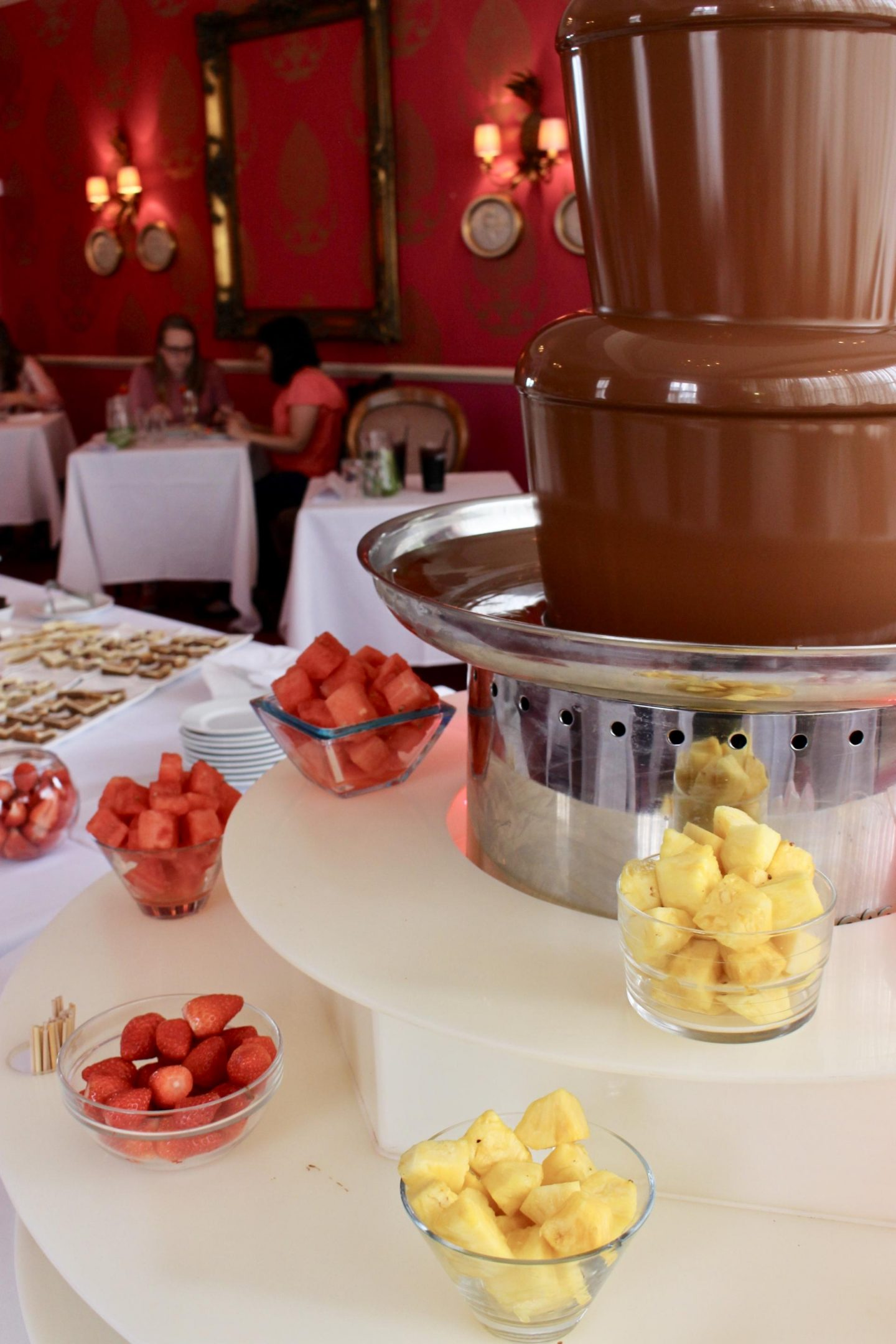 Chocolate buffet at the Cottonwood boutique hotel