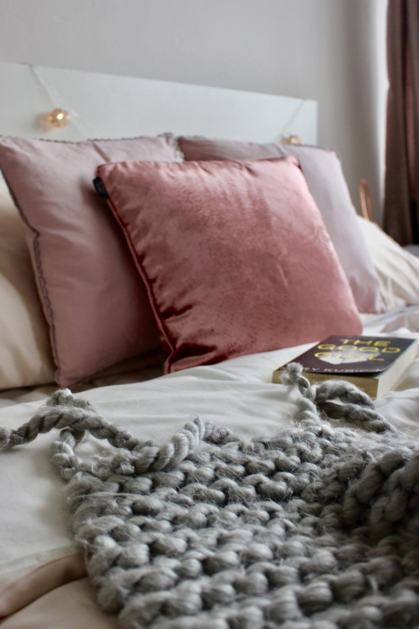 Blush pink and grey homeware