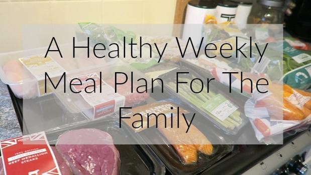 A Healthy Weekly Meal Plan