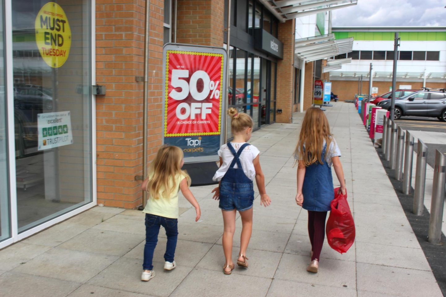 Back to school shopping at Ocean Retail Park