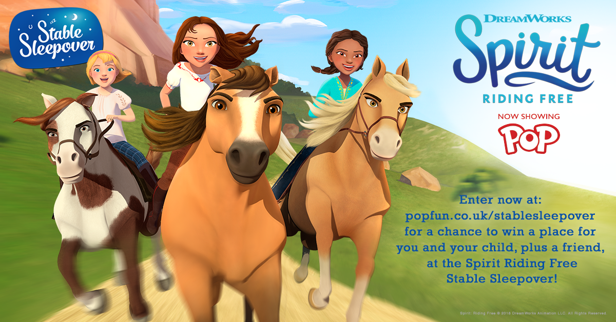 Win A Stable Sleepover With Spirit Riding Free!