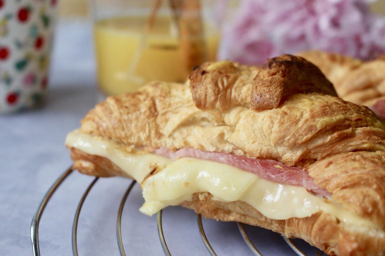 Ham & Cheese Croissants with Mustard Glaze