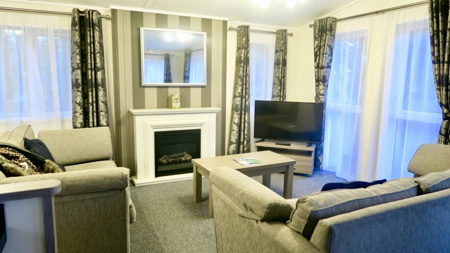 Living Room Platinum Lodge John Fowler Holiday Park St.Ives