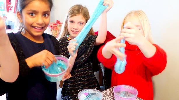 Maisy turns 9! Throwing a slime party