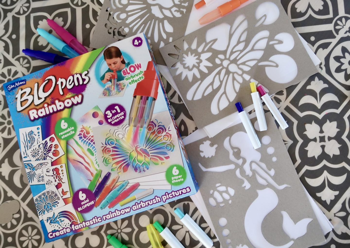 BLOPENS RAINBOW |REVIEW & GIVEAWAY|