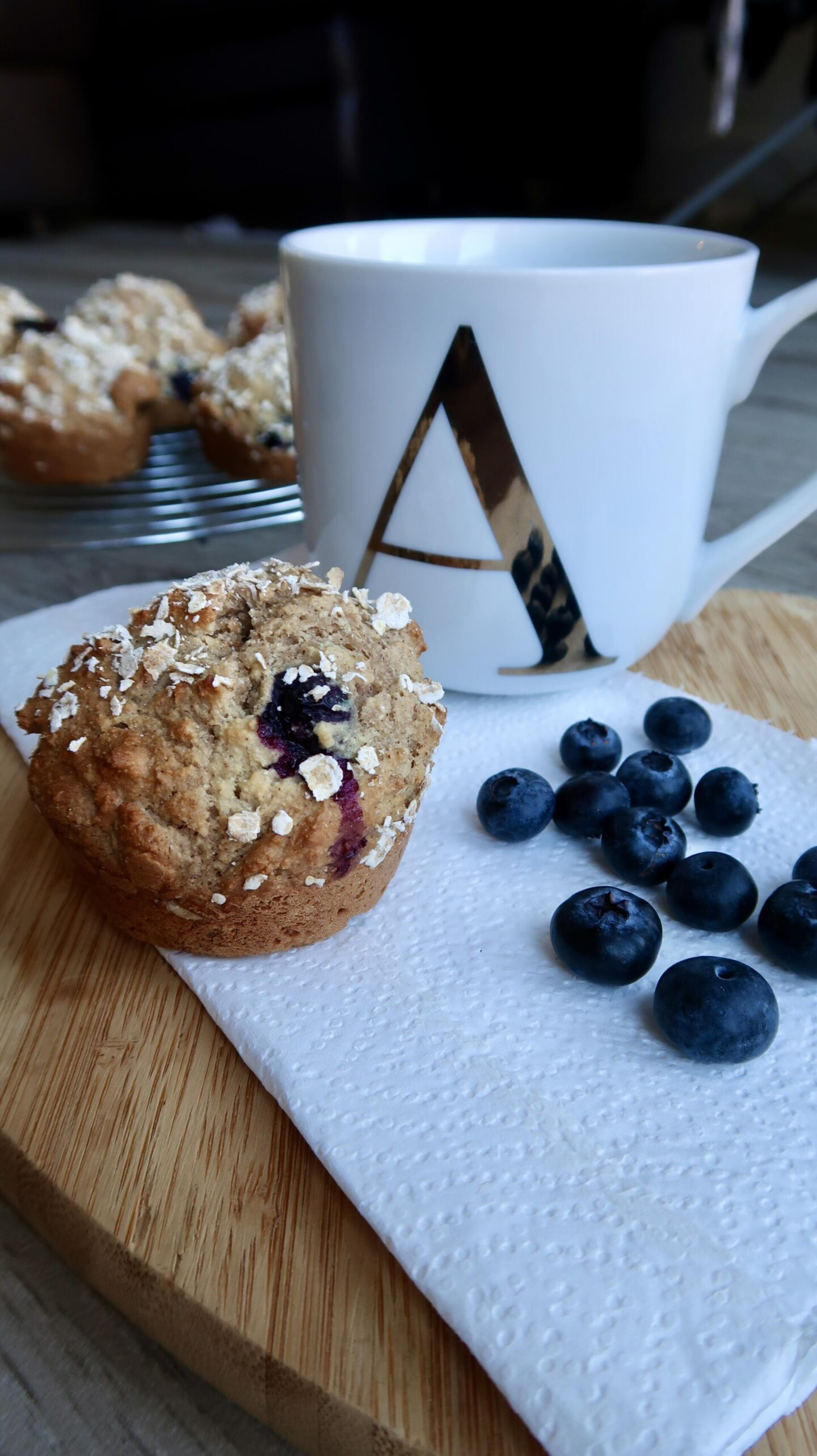 Blueberry And Greek Yogurt Breakfast Muffins