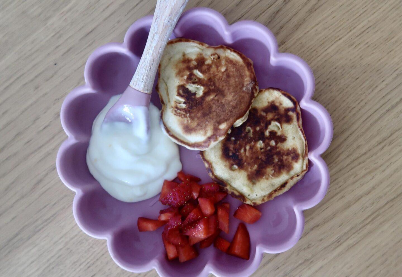 Three Ingredient Banana Pancakes   Weaning Recipe