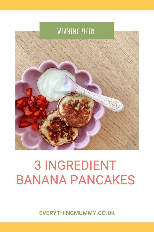 Three Ingredient Banana Pancakes
